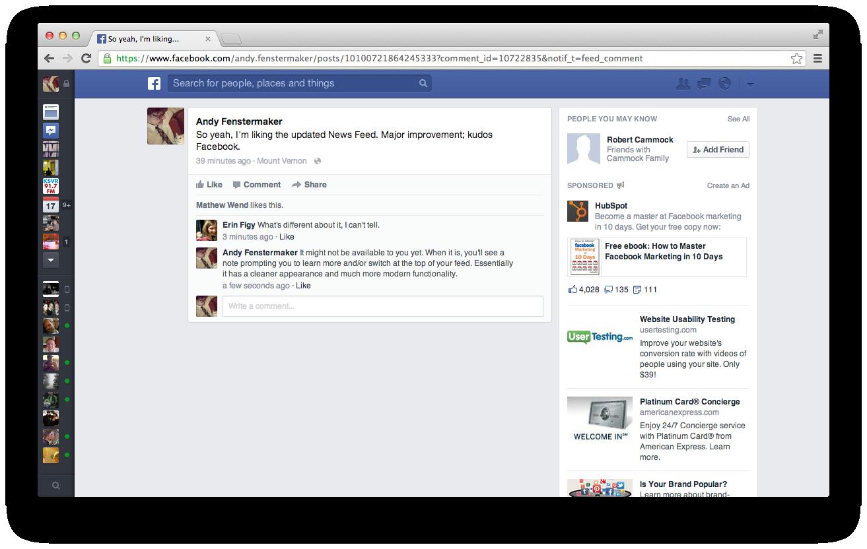 Facebook Updates News Feed 2013