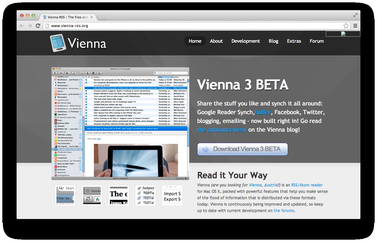 Vienna RSS Screen Shot
